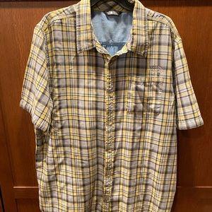 North Face SS plaid shirt